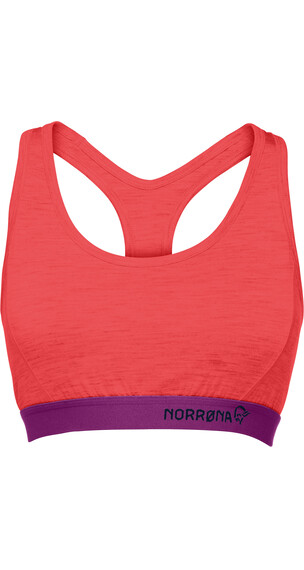 Norrøna Wool Sport BH's Dames rood